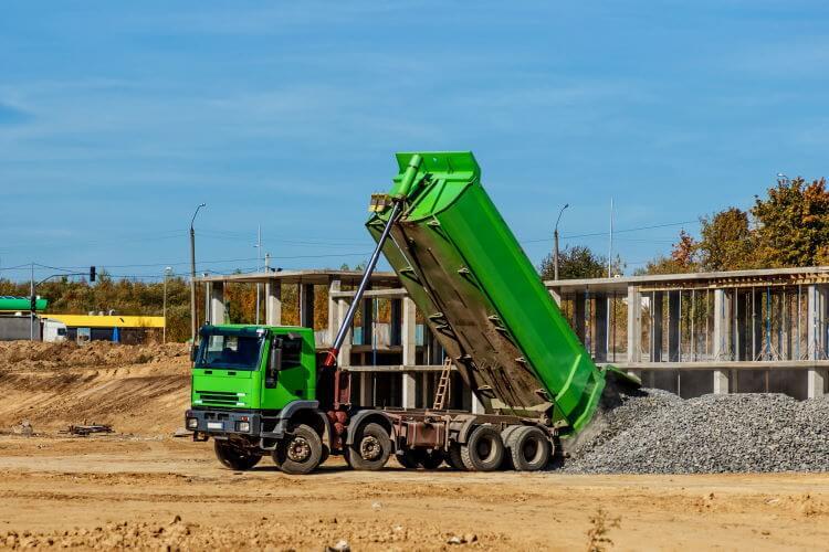 granitskærver leveret med lastbil